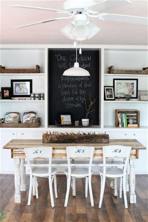 Joanna Gaines Dining Room Table Decor Chalk Board Wall The Numbers On The Chairs