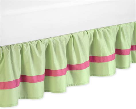 girls bed skirt pink green toddler girl bed skirt