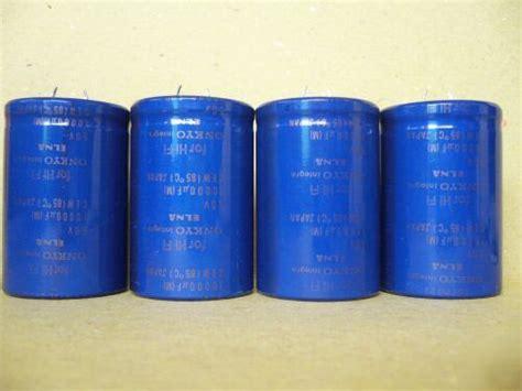 elna capacitor date code 4pcs of onkyo elna 10000uf 50v capacitor for audio