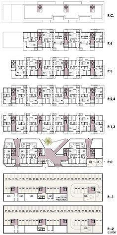 grundriss mit maßen alvar aalto flats at hansaviertel 1957 atlas xiii