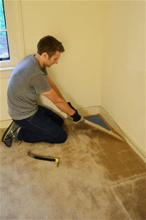 How To Pull Up Hardwood Floors by How To Remove Carpet Photos House