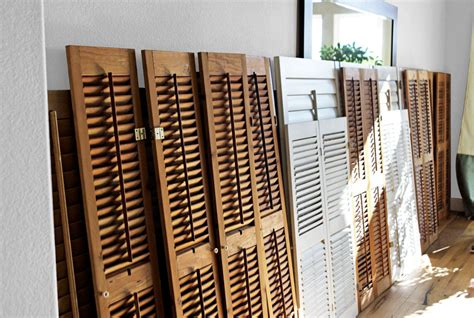 wall shutter decor interior wall decorating ideas how to create a shutter wall