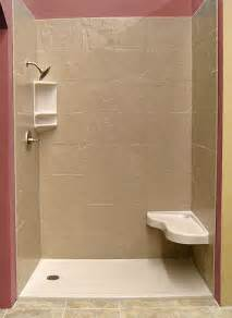 shower stall kit with seat interior exterior doors