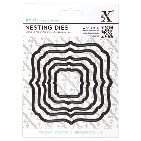 Paper Crafting Dies - nesting dies square parenthesis xcut from craftyarts co