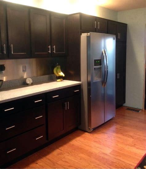 homecrest cabinets  java maple   arbor door style