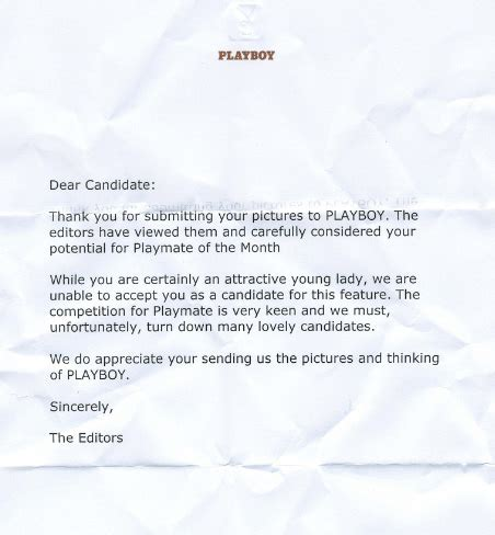 Rejection Letter Joke other s rejection letters the awesomer