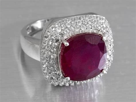 mahaleo ruby and white topaz sterling silver ring