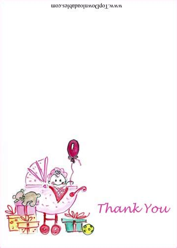 Free Baby Thank You Photo Card Templates