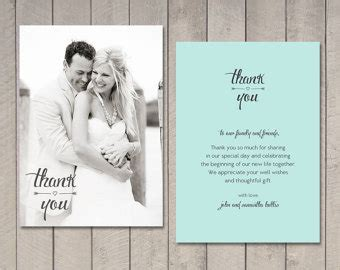 thank you letter after attending wedding wedding thank you cards etsy