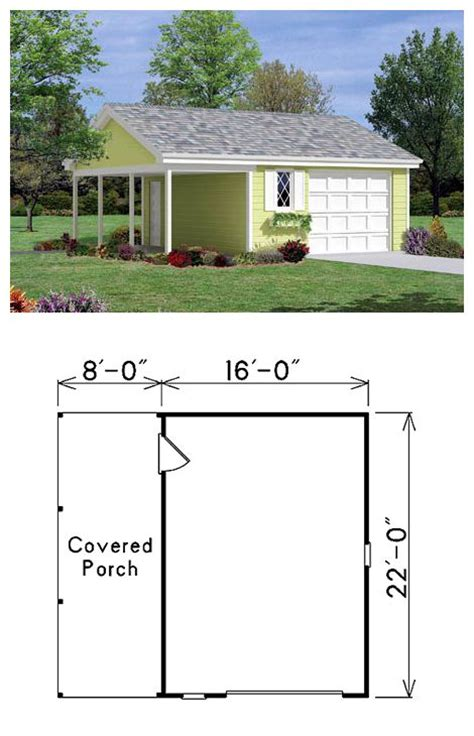 Garage Plans With Porch by The 27 Best Images About One Car Garage Plans On