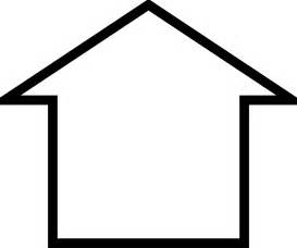 Outlines Of Houses Clipart by Outline Of A House Clipart Best