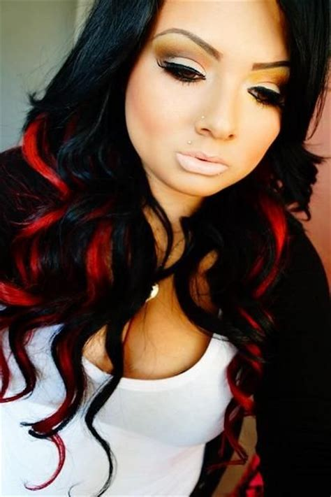 hairstyles red and black hair red black hairstyles for long hair pinterest black