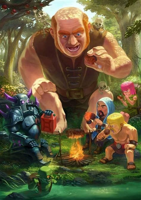 download game coc mod flame wall artwork clash of clans