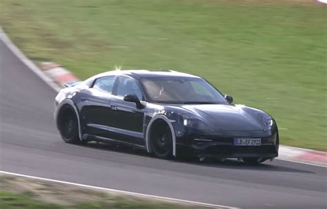 porsche prototype porsche mission e prototype whooshes on the nurburgring