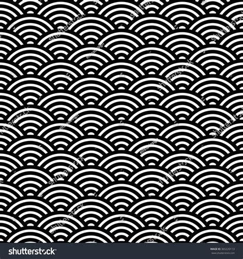 japanese pattern black and white japanese fan pattern vector illustration asian stock