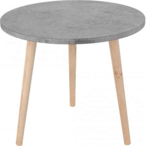 ronde salontafel beton bol ronde salontafel bijzettafel houten poten