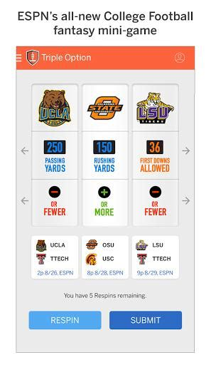 espn football apk espn chionship drive apk 4 1 0 free sports app for android apk4fun