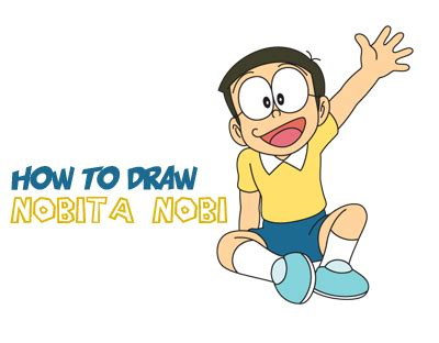 tutorial gambar nobita how to draw nobita nobi from doraemon with easy drawing