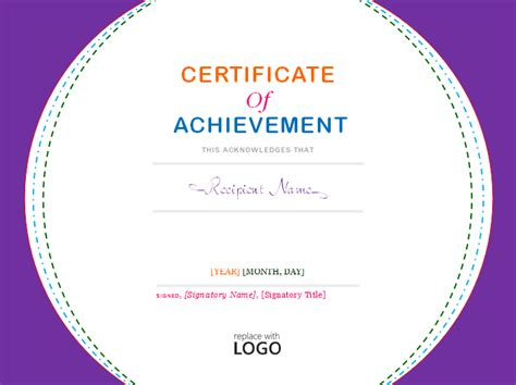 word template certificate of achievement certificate of achievement template microsoft word templates