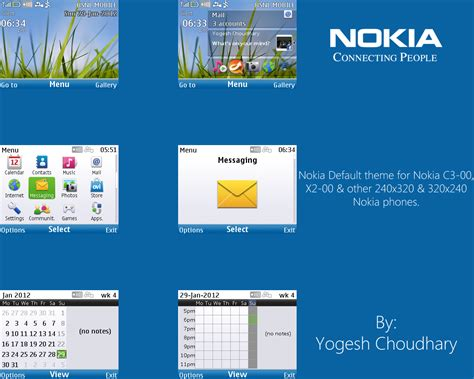 nokia c3 themes windows xp nokia default theme for c3 00 and x2 00 updated by