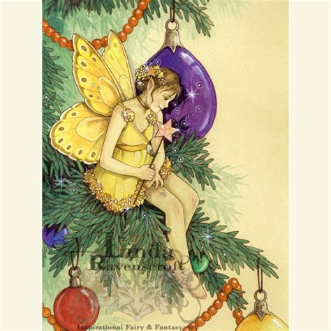 printable christmas tree fairy art print christmas tree fairy