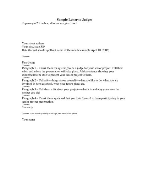 Business Letter Format To Judge best photos of formal letter to judge template