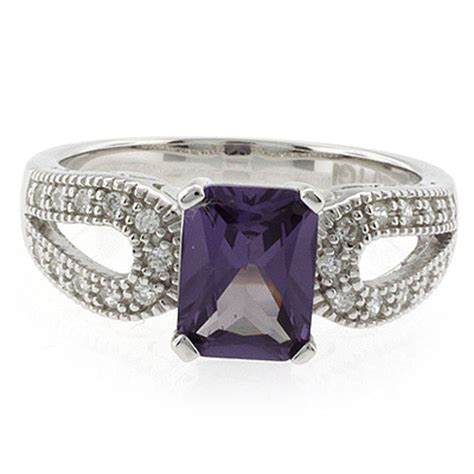 emerald cut color changing alexandrite ring silverbestbuy