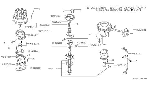 1986 nissan 720 parts distributor ignition timing sensor for 1986 nissan 720