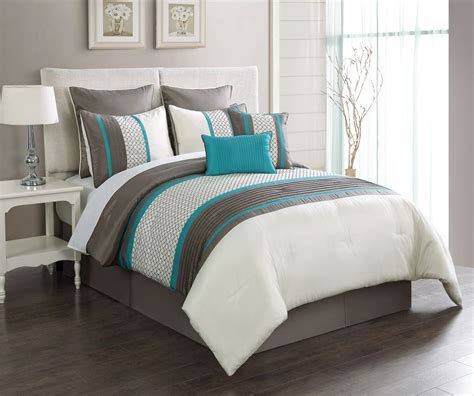 turquoise bed sets turquoise and gray bedding taupe turquoise embroidery queen comforter set stripes