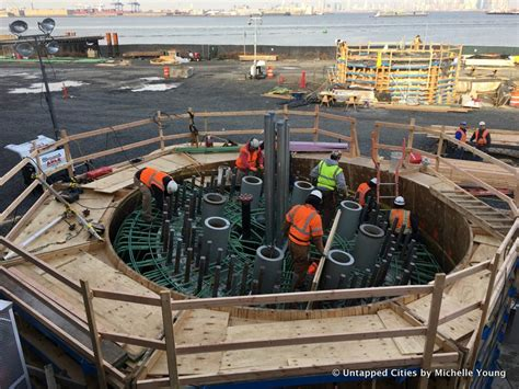 pieces of new york wheel are installed on staten island photos untapped cities