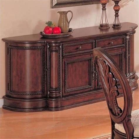 dining room china buffet tabitha traditional china buffet in cherry finish 101034b