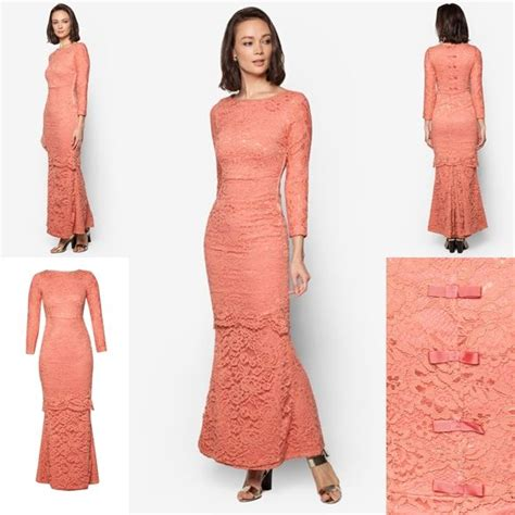 rekaan baju moden terkini baju raya 2016 baju kurung moden lace fesyen trend terkini