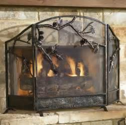rustic pinecone fireplace screen reclaimed furniture
