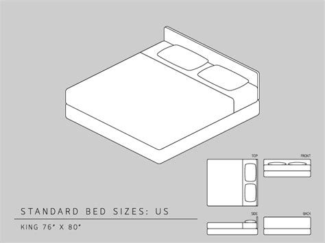 measurement of king size bed queen size bed dimensions vs california king