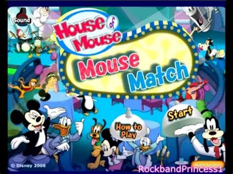 house of mouse games disney s house of mouse match game youtube