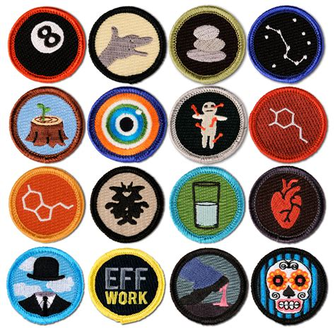 New Badge Forki Termurah 16 pack merit badges for grown up feats