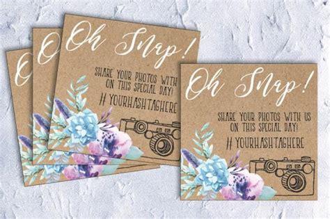 Wedding Hashtag Cards by Wedding Hashtag Card Table Card Wedding Hashtag Photo