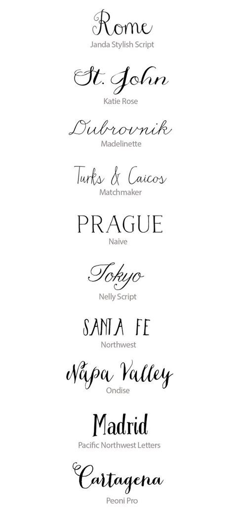 Best Calligraphy Fonts for Weddings :: 50 Hand Lettered