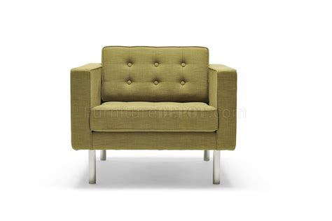 green fabric contemporary sofa armchair set