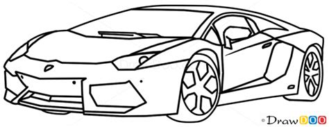 supercar drawing how to draw lamborghini aventador supercars