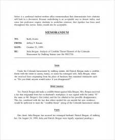 Memo Format Harvard Sle Memo Format 19 Documents In Pdf Word