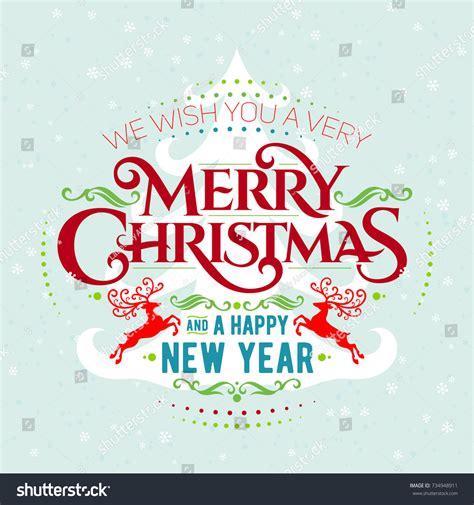 we wish you very merry christmas stock vector 734948911
