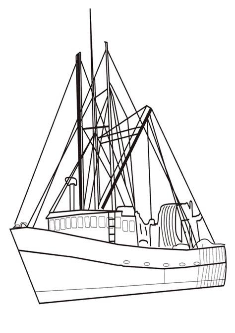 dessin bateau de peche coloriage bateau de p 234 che s appr 234 tant 224 partir
