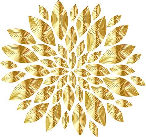 golden pattern png clipart gold flower petals variation 3
