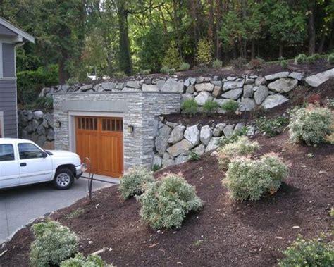 homes built into hillside garage built in to hillside houzz