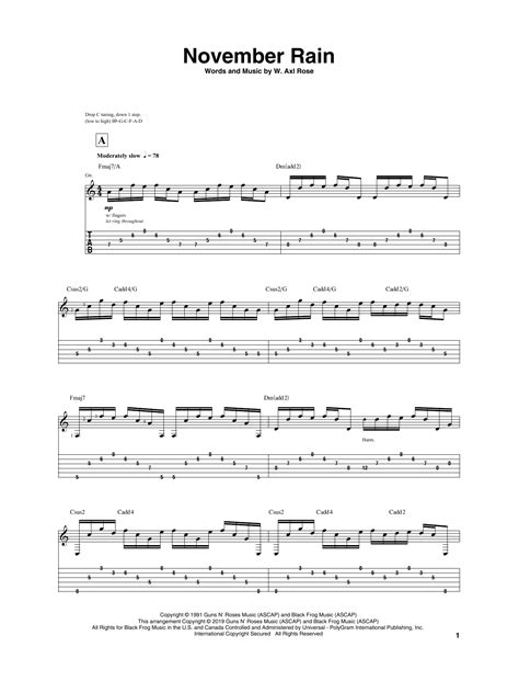 November Rain Noten   Igor Presnyakov   Gitarrentabulatur
