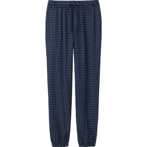 drape pants uniqlo women drape pants in blue navy lyst