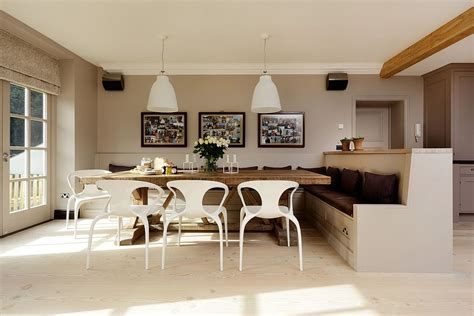banquette dining room refined simplicity 20 banquette ideas for your scandinavian dining space