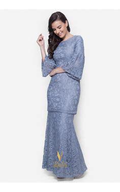 Set Rina Glw Setelan Kebaya Muslim Set Baju Batik Wanita rina nichie desni peplum kurung dusty purple baju kurung moden soiree