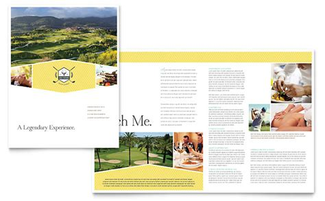 brochure template resort golf resort brochure template design